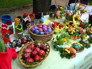 Traditional easter eggs in Croatia