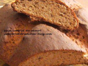 pain complet au yaourt