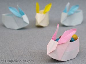 tuto origami lapin paques