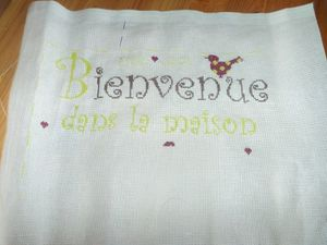 Broderie bienvenu grille des grillottes de Betty by Virgini