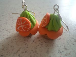 BO fimo cupcake orange menthe (2)