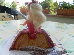 gateau princesse coupe
