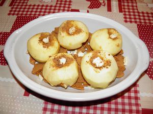 Pommes au beurre avant cuisson