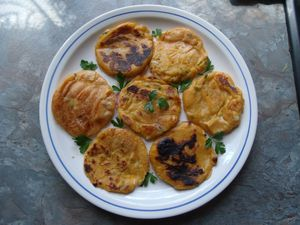 blinis de courgette jaune