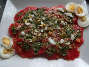 carpaccio de tomates au pistou