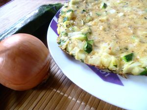 Frittata courgettes 1