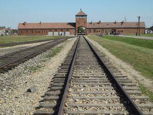 Il binario della Juden Ramp all'interno del campo di Birkenau, l'ultima in funzione prima della liberazione - Foto di Maurizio Crispi