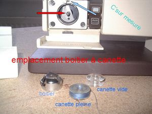 emplacement boitier canette