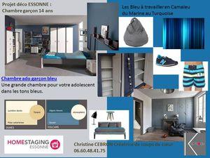 chambre d ado bleu turquoise et grisejpg