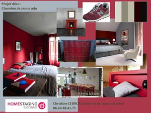 planche d 39 orientation d co pour une chambre d 39 ado en gris et bordeaux le blog de homestaging. Black Bedroom Furniture Sets. Home Design Ideas