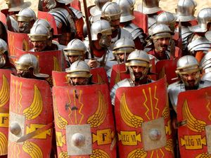Close Up On A Roman Army by porpierita