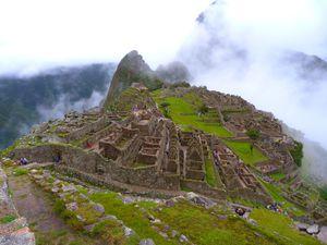 Machu Picchu, dans la brume !!