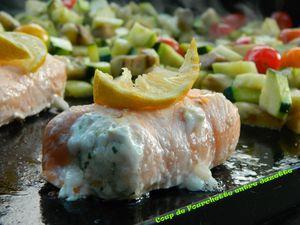 paupiettes de saumon à la plancha