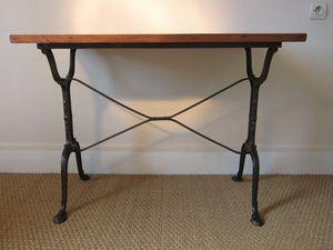 Table bistrot bois fonte - Table bistrot bois ancienne ...