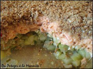 Crumble de crougette et de saumon2