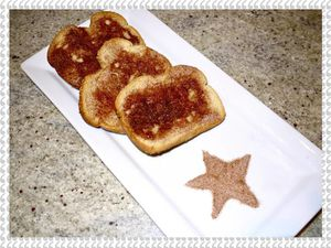 Toasts à la cannelle