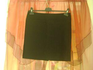 +JE GARDE jupe tailleur noire 38 tr++BC+