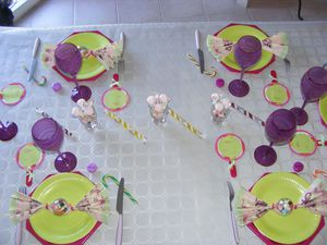 Decorations de table carte coquetteline for Decoration theme gourmandise