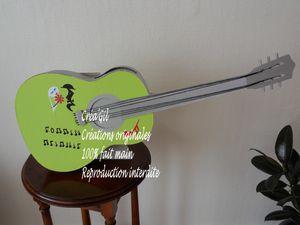 urne guitare Melanie Créa Gil