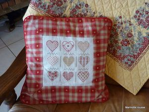 Coussin coeurs