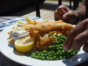 e- fish and chips à beaucette marina