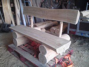 bancs en acacia de la for t au produit fini partie fabrication arbosylva artisanat bois et. Black Bedroom Furniture Sets. Home Design Ideas