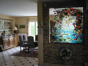 semi separation decor floral vitrail deniau