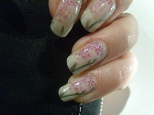 nail art fleur 1