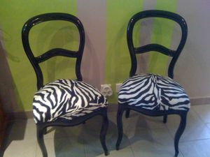 Chaises zebre l 39 atelier d 39 angel for Meuble zebre