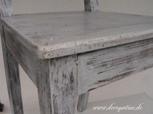 Elegant ... Decopatine Stuhl Shabby, Patina, Decopatine
