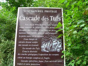 Arrivée à la cascade des Tufs des Planches (Arbois)