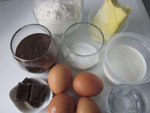 Ingredient eclaire au chocolat fourré a la danette
