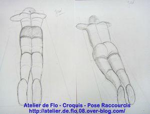 Atelier de Flo croquis dessin raccourcis deformation7