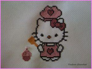 Hello Kitty patissière par Sandra