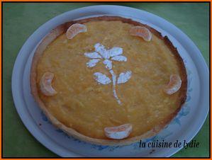 tarte aux clementine garni over