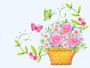 pot fleuri