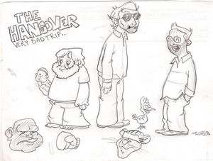 the cartoon hangover by luki bancher