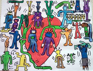 Keith Haring- Christopher et Valentin