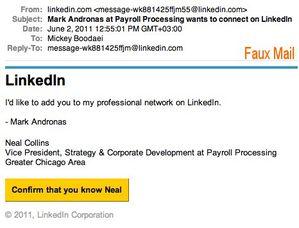 LinkedIn fake