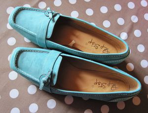 mocassins turquoise