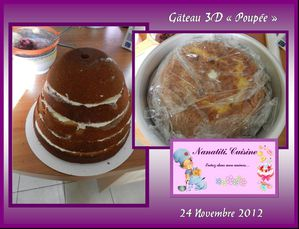 gâteau 3D poupée 3