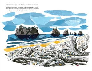 Twilight Saga Illustrated Guide - La Push 1st Beach Drawing