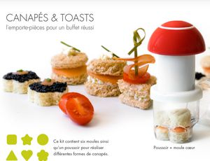 page table moules a toasts