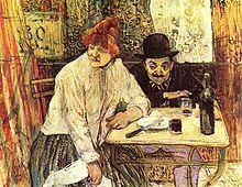 Alcoolisme-Henri de Toulouse-Lautrec Wikipedia