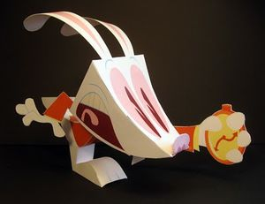 Papertoys Late! by Matt Hawkins (white rabbit)