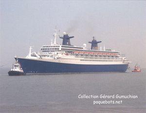 Paquebot Norway - CP arrivée à Bremerhaven en juillet 200