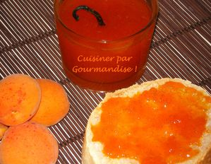 Marmelade abricots vanille