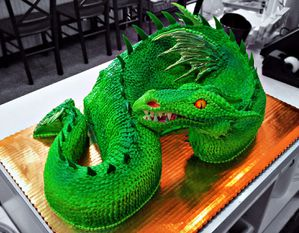 green dragon cake by the evil plankton-d55innu