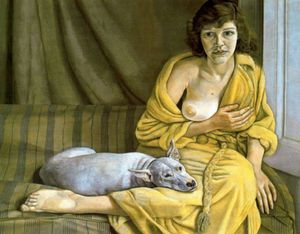 1951 Freud Fille au chien blanc Tate