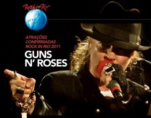 Guns' N Roses - Rock In Rio (2011) affiche